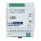 Leviton 111A00-1 - Omni-Bus Power Switch DIN Rail Module - Electronic Low Voltage - LED - Halogen - Incandescent Lighting