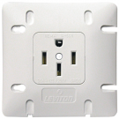 Leviton 1279-W50 - Range Receptacle - NEMA14-50R - Flush Mount - 50A - 125/250V - 3Pole - 4 Wire - White