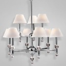 Eurofase 14760 - Bauhaus - 9 LIGHT CHANDELIER - Chrome - E12 Bulb - 120V