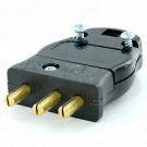 Leviton 20MP-E - Stage Pin Male Plug Set Screw Terminals - 20 Amp - 125 Volt - BLACK