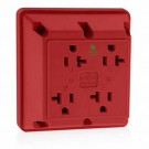 Leviton 21254-HR - 20 Amp - 125 Volt - NEMA 5-20R - Hospital Grade - 4-In-1 Receptacle - Red