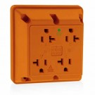Leviton 21254-IG - 20 Amp - 125 Volt - NEMA 5-20R - Hospital Grade - 4-In-1 Receptacle - Orange