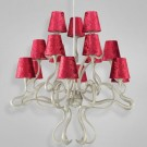 Eurofase 23064 - Prima - 15 LIGHT CHANDELIER- Chrome/Copper - Red - E12 Bulb - 120V
