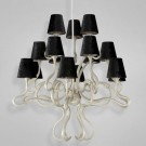 Eurofase 23064 - Prima - 15 LIGHT CHANDELIER- Chrome/Copper - Black - E12 Bulb - 120V