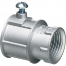 "Arlington 2400 - Zinc Combination Couplings (EMT to Rigid) - 1/2"" EMT to 1/2"" female threaded - Silver - Zinc Die-Cast - 50 Packs"