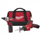 Milwaukee 2490-22 - M12 Cordless LITHIUM-ION 2-Tool Combo Kit