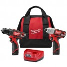 Milwaukee 2494-22 - M12 Cordless LITHIUM-ION 2-Tool Combo Kit