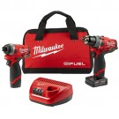 "Milwaukee 2598-22 - M12 FUEL™ 2-Tool Combo Kit: 1/2"" Hammer Drill and 1/4"" Hex Impact Driver"