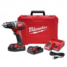 """Milwaukee 2606-22CT - M18™ Compact 1/2"""" Drill Driver Kit"""