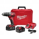 "Milwaukee 2607-22 - M18 1/2"" Compact Hammer Drill/Driver Kit"