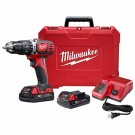 "Milwaukee 2607-22CT - M18 Compact 1/2"" Hammer Drill/Driver Kit"
