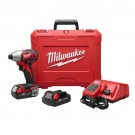 "Milwaukee 2656-22CT - M18 1/4"" HEX IMPACT DRIVER CP KIT"