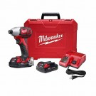 "Milwaukee 2657-22CT - M18 2-Speed 1/4"" Hex Impact Driver Kit"