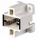 Leviton 26720-400 - GX23, GX23-2 Base - Compact Fluorescent Lampholder - Bottom Screw-Down - White