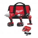 Milwaukee 2696-23 - M18 Cordless LITHIUM-ION 3-Tool Combo Kit