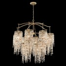 Eurofase 28000-013 - Savannah - 12 Light Chandelier - Antique Bronze - Mixed Crystals And Stones - 120V - 60W - A19 - E26