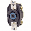 Leviton 2810 - 30 Amp - 120/208 Volt 3PY - NEMA L21-30R - Flush Mtg Locking Receptacle - Industrial Grade - Black