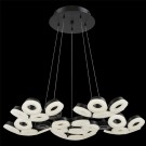 Eurofase 29094-028 - GLENDALE - 30-LIGHT LED CHANDELIER - Black Finish - Frosted - 120V - 2.4W - 4710 Lumens - 4200K Cool White
