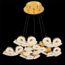 Eurofase 29094-035 - GLENDALE - 30-LIGHT LED CHANDELIER - Gold Finish - Frosted - 120V - 2.4W - 4710 Lumens - 4200K Cool White