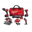 Milwaukee 2997-25 - M18 FUEL™ 5 Tool Combo Kit (Includes:2804-20; 2853-20; 2720-20; 2730-20; 2735-20; 48-11-1850 (x2); 48-59-1812 )