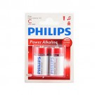 "Philips Power Alkaline ""C"" battery (2-pack)"