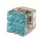 Ideal Industries 30-688 - In-Sure® Push-In Wire Connector, Model 88 6-Port Blue, Box of 2,500