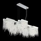 Eurofase 30005-013 - ROSSI - 10-LIGHT LINEAR LED CHANDELIER - Chrome Finish - Clear Crystal - 120V - 10W - 8000 Lumens - 3000K Warm White