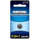 Rayovac 303/357-1ZM - Silver Oxide Button Battery - 1.5 Volt - For Watches and Calculators - 303/357 Size