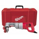 "Milwaukee 3107-6 - 1/2"" D-Handle Right Angle Drill Kit - 0-500 RPM"