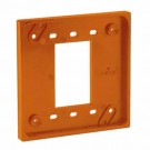 Leviton 3254-OR - Four-In-One Adapter Plate - To Be Used with Cat 1254 and 21254 Only - Orange