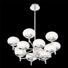 Eurofase 34045-015 - BURLINGTON - 12-LIGHT TWO-TIER CHANDELIER - 40W - Chrome - Frosted - 120V - G9 - G9