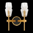Eurofase 35937-012 - GLADSTONE - 2-LIGHT Wall Sconce - 120V - 60 W - B10 - E12 - Antique Brass & Black