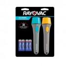 Rayovac BEH2AA-B2A - Brite Essentials 2AA Slim Grip LED Flashlight 2-Pack w/Batteries