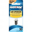 Rayovac 3VLED-1T - 3 Volt LED Replacement Bulb - 2 Cell for 2AA, 2C, 2D Lights
