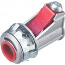Arlington 4010AST - SNAP²IT Connectors with Insulated Throat  - Zinc die-cast - Silver - 50 Packs