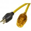 VISTA 40514- 30M Heavy Duty 12/3 SJTW w/LED Light - Single Outlet - Yellow