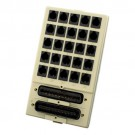 Leviton 41620-I - RJ11 Surface-Mount Mini Patch Panel - 6P2C - Ivory