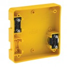 Leviton 4254-Y - Four-In-One Portable Box - To Be Used Only with Catalog No.1254 and 21254 - YELLOW