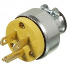 VISTA 45412 - Plug 15A/125V - Armoured - w/clamp - Yellow