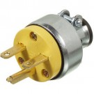 VISTA 45415 - Plug 15A/250V w/Clamp - Yellow