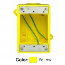 Leviton 454CR - FD Box 2 KO Openings 1 Inch for Straight / Locking Receptacle - Wetguard IP66 - Yellow