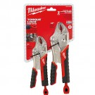 Milwaukee 48-22-3402 - 2PC TORQUE LOCK Curved Jaw Locking Pliers Set