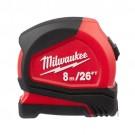Milwaukee 48-22-6626 - 8 m/26 ft. Compact Tape Measure
