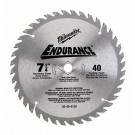 "Milwaukee 48-40-4116 - 7-1/4"" 16 Carbide Teeth Circular Saw Blade"