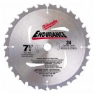 "Milwaukee 48-40-4120 - 7-1/4"" 24 Carbide Teeth Circular Saw Blade"