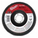 "Milwaukee 48-80-8021 - 5"" x 7/8"" Flap Disc 60 Grit - 5 Packs"