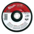 "Milwaukee 48-80-8032 - 7"" x 7/8"" Flap Disc 80 Grit - 5 Packs"