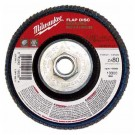 "Milwaukee 48-80-8112 - 4-1/2"" x 5/8""-11 Flap Disc 80 Grit - 5 Packs"