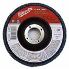 "Milwaukee 48-80-8012 - 4-1/2"" x 5/8""-11 Flap Disc 80 Grit - 5 Packs"