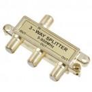 VISTA 48231 - 3-Way Splitter - 75OHM - Gold